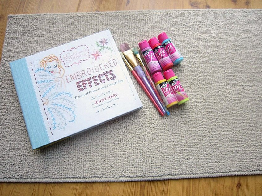 Embroidered Effects Book by Jenny Hart as a template for a DIY Doormat.