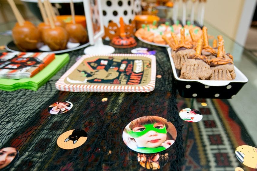 Halloween photo confetti by Jennifer Perkins
