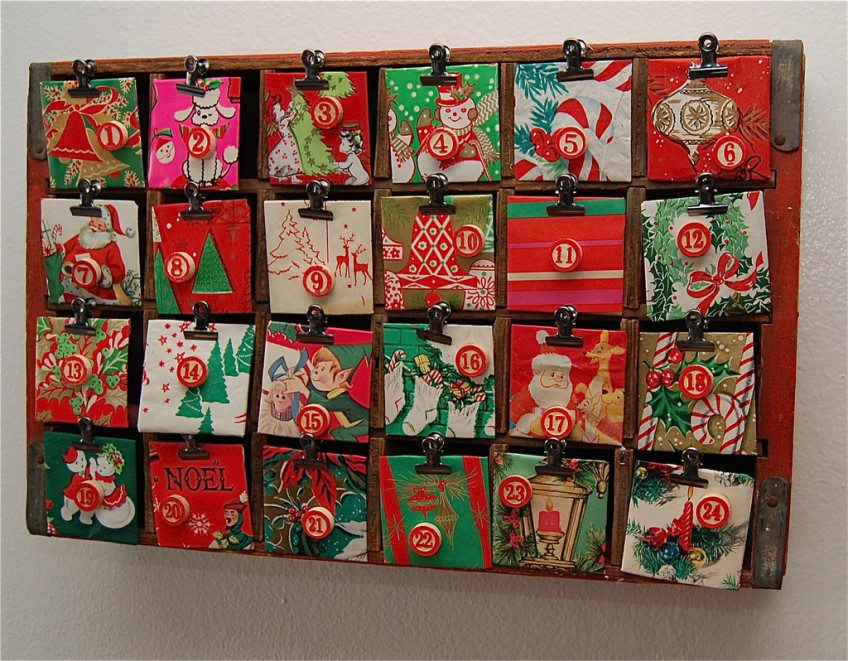 How to transform a coke crate into an advent calendar.