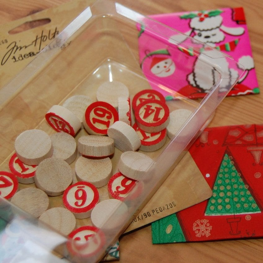 Use Time Holtz bingo numbers to mark the days on your advent.
