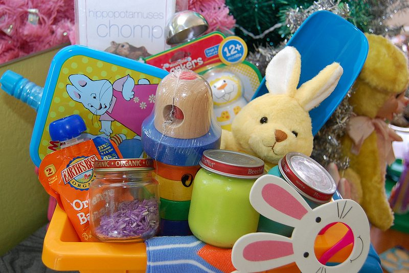 Baby easter basket ideas diy sensory toys and more easter baskets for babies negle Images