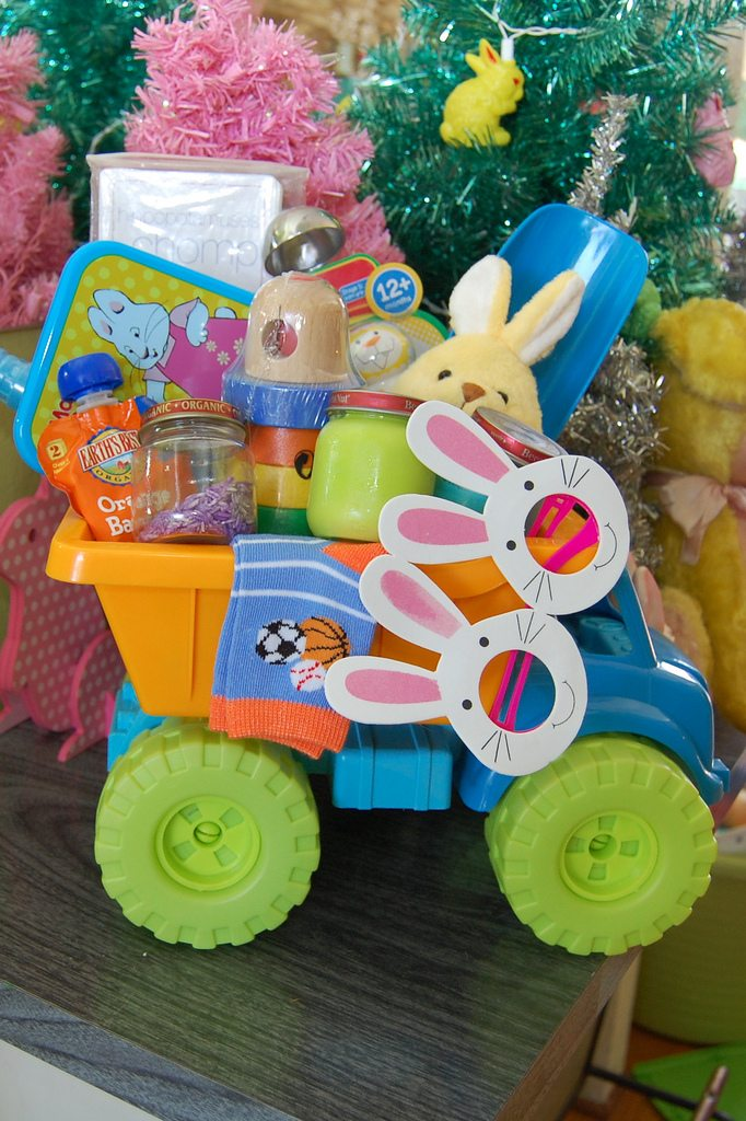 Ideas for what to but in a babies Easter basket.