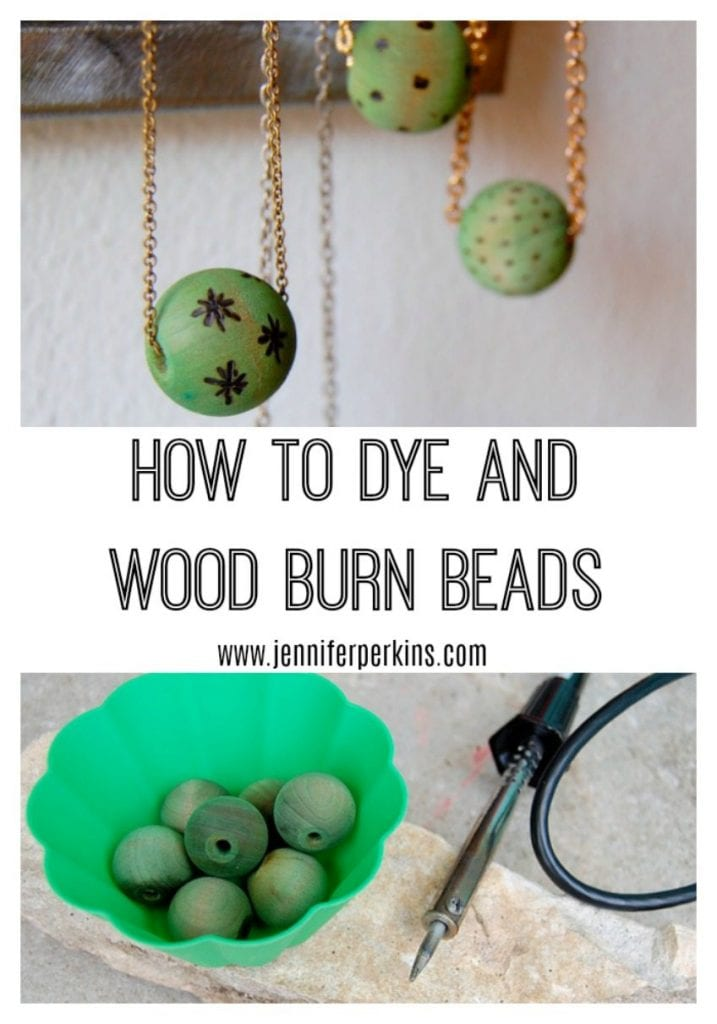 How to Wood Burn Beads by Jennifer Perkins