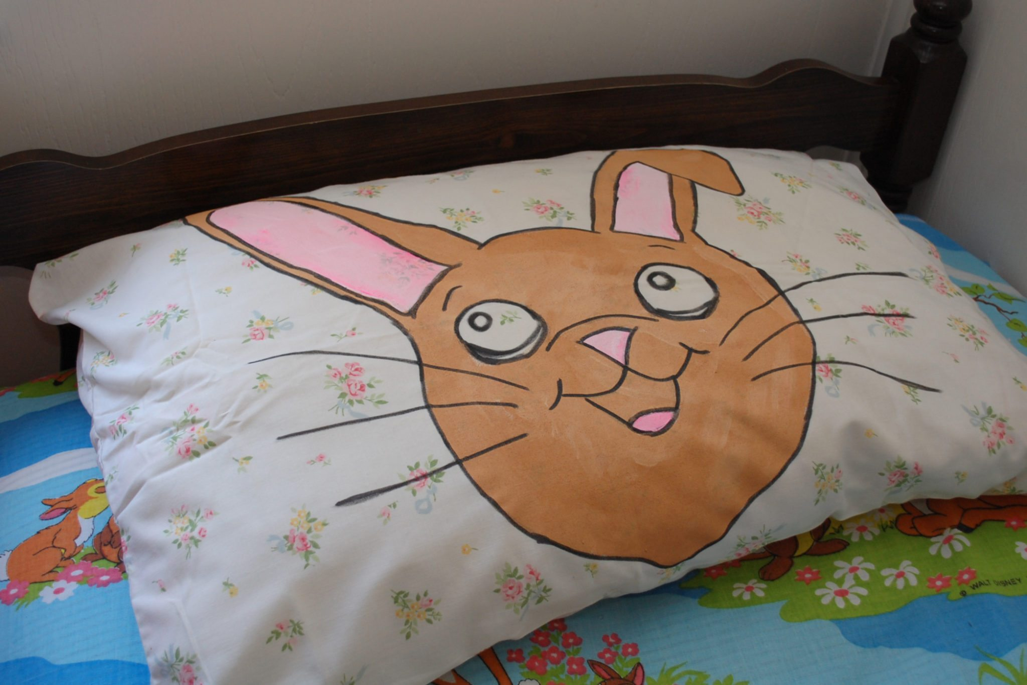 Give your pillowcases the Easter treatment with these painted bunnies by Jennifer Perkins