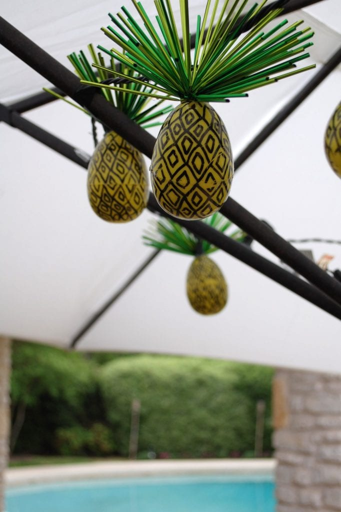 Pineapple String Lights From Plastic Easter Eggs - Jennifer Perkins Jennifer Perkins
