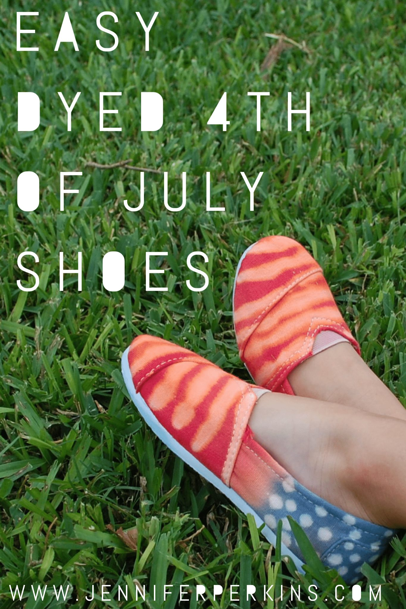 Easy dyed 4th of July Shoes by Jennifer Perkins