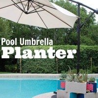 How to build a planter for your pool umbrella.