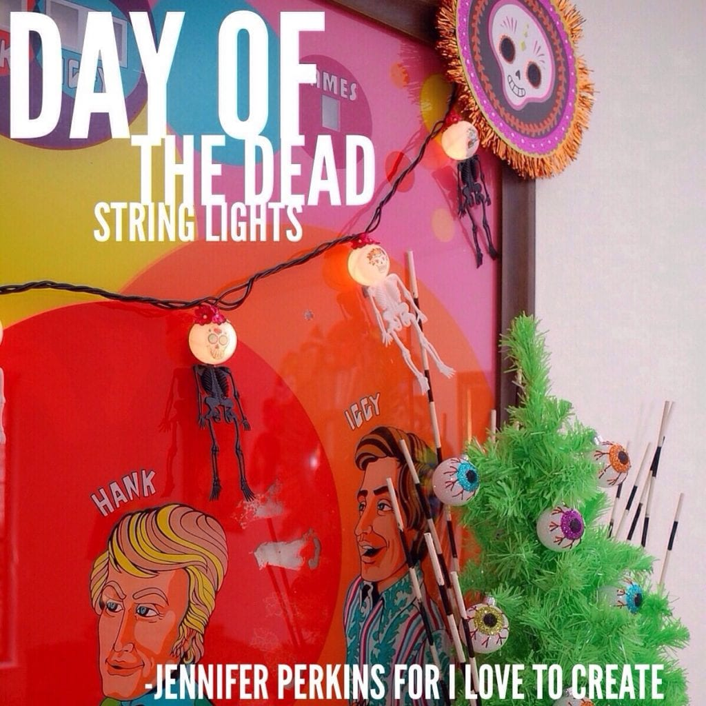 How to make day of the dead string lights.