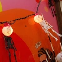 Day of the Dead string lights.