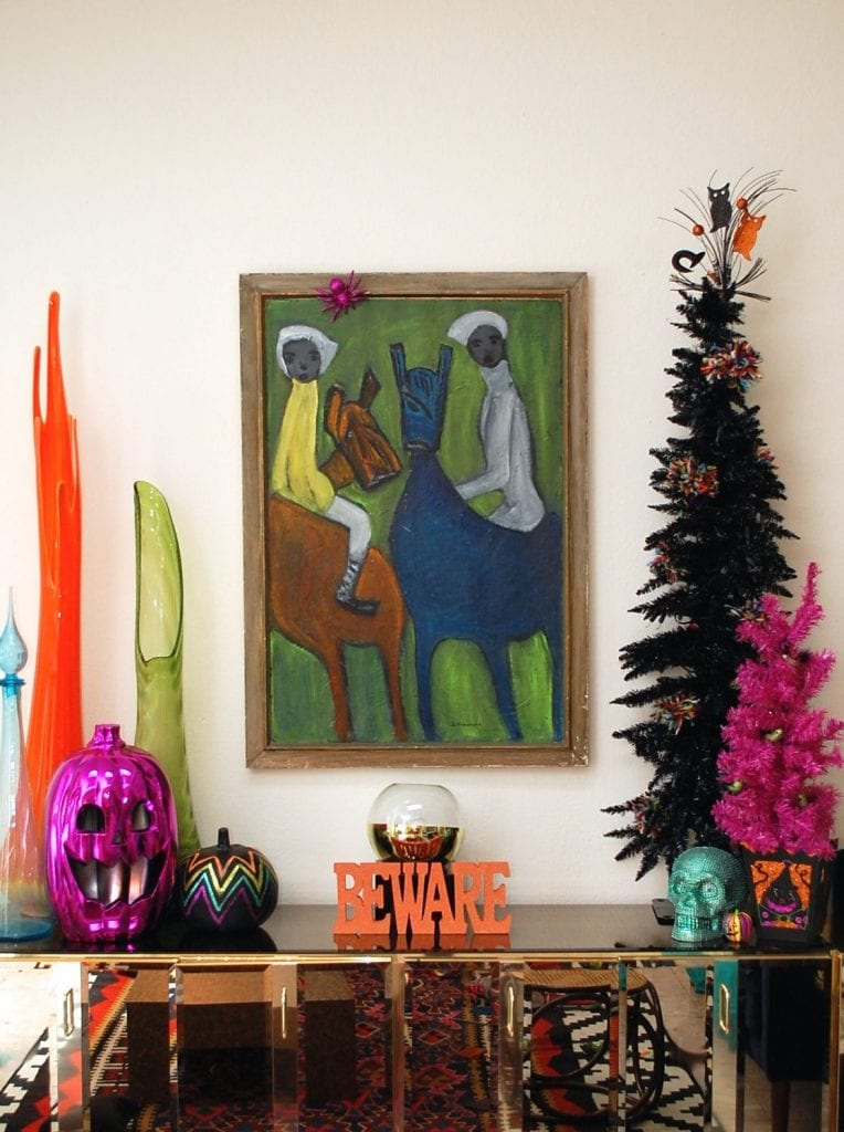 Halloween tree decorations
