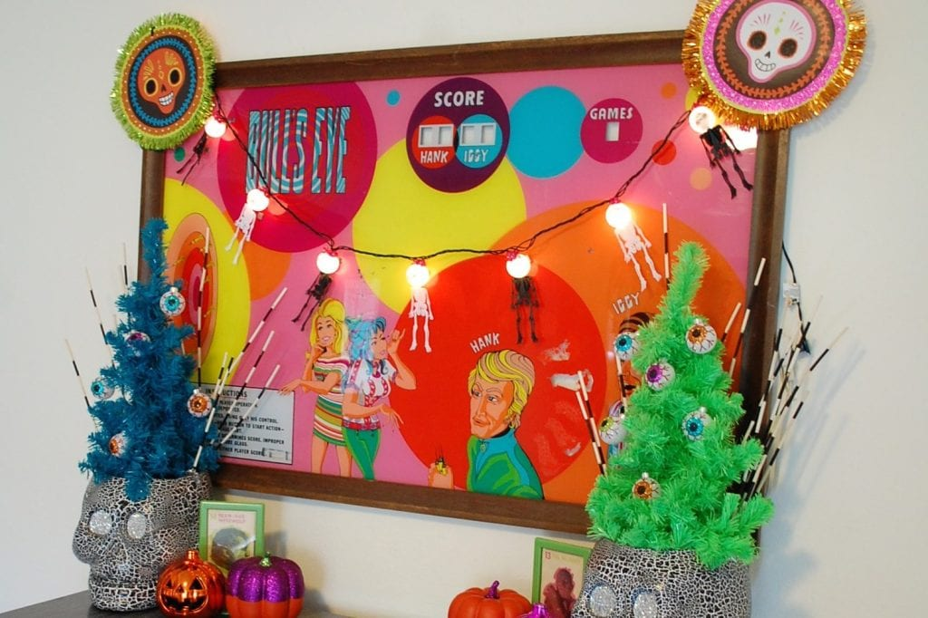 Decorating for Halloween and Day of the Dead.