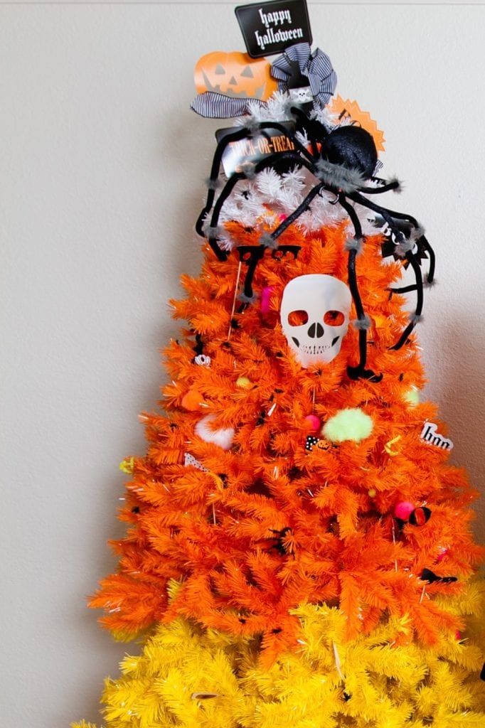in her how to decorate a halloween candy corn tree post jennifer shares with her readers how wonderfully wicked our colorful candy corn tree can be for - Christmas Candy Corn