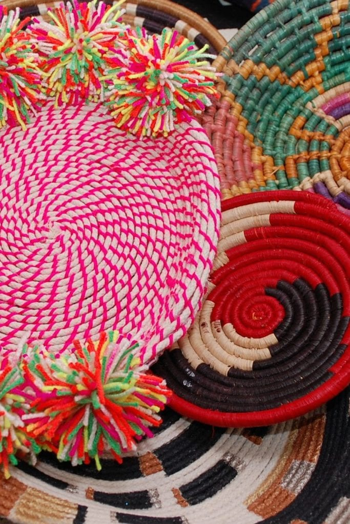 Coiled-rope-bowls