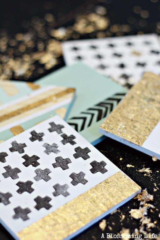 DIY-Gold-Leaf-Coasters-5