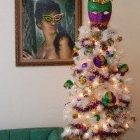 Decorate a tree to celebrate Mardi Gras complete with DIY King Cake Ornaments by Jennifer Perkins