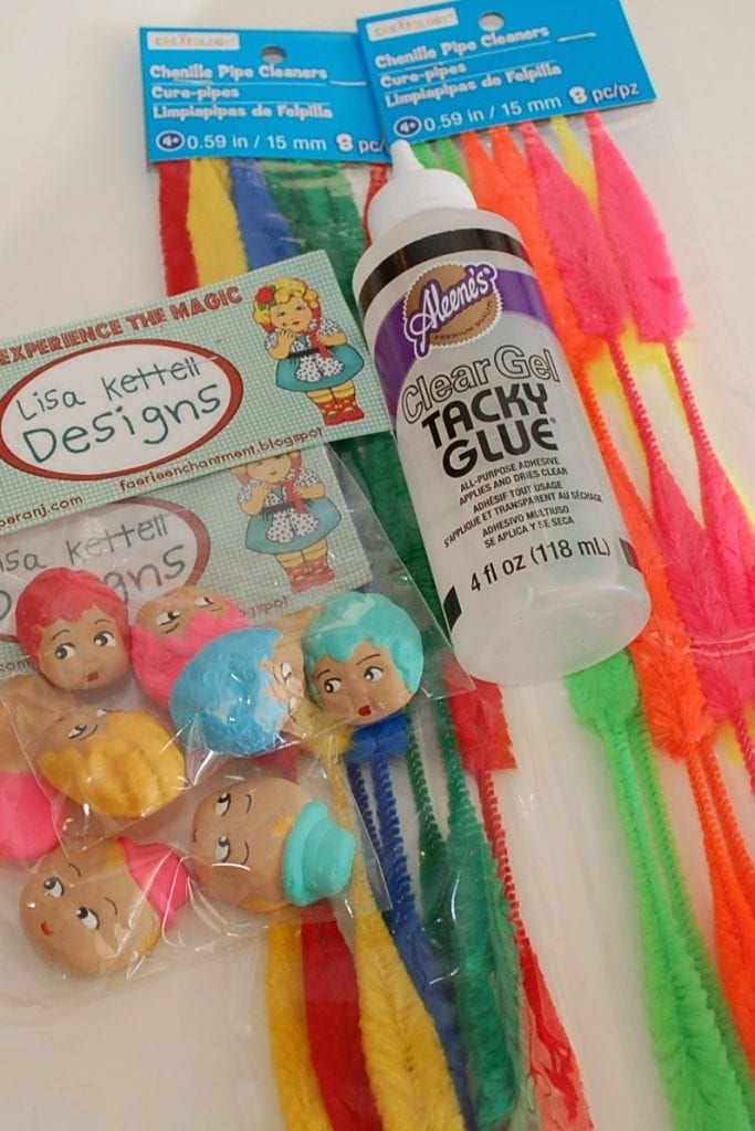 How to make vintage style chenille pipe cleaner people by Jennifer Perkins
