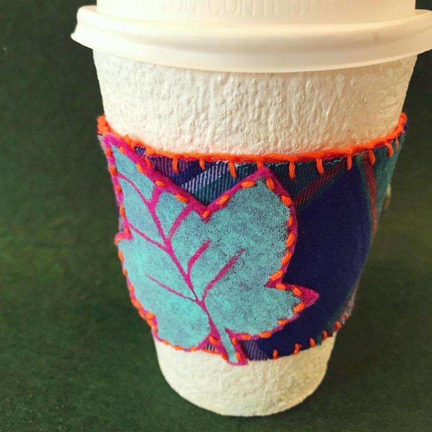Diy Flannel And Felt Coffee Sleeve