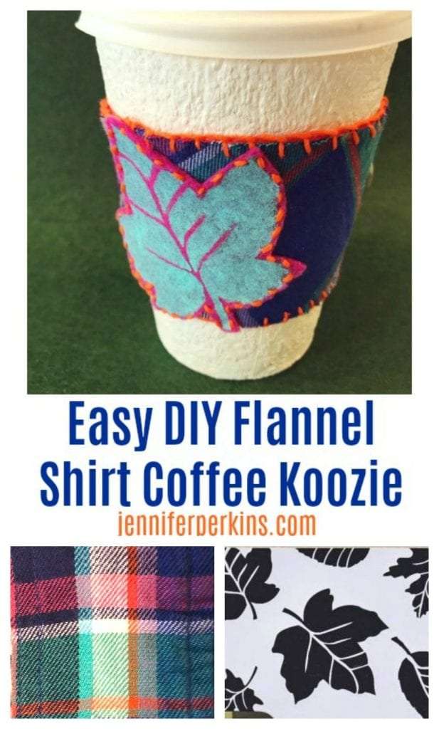DIY Felt and Flannel Coffee Sleeves by Jennifer Perkins