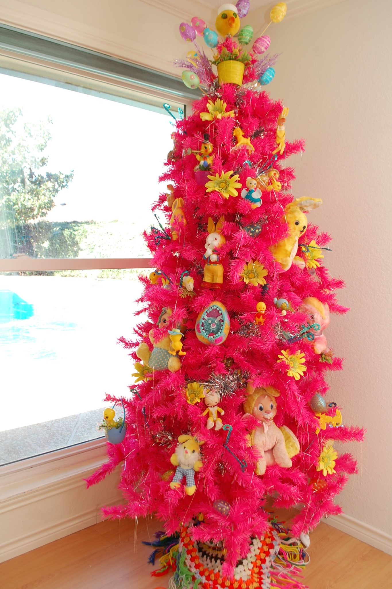 Decorate Christmas Tree For Easter : Decorating for easter using a christmas tree jennifer