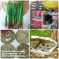 A roundup of recycled green crafts for Earth Day.