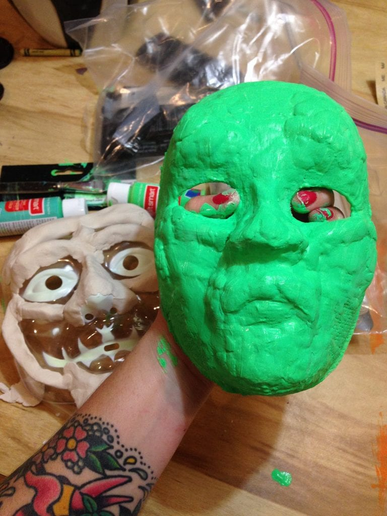 Paint your Halloween mask.
