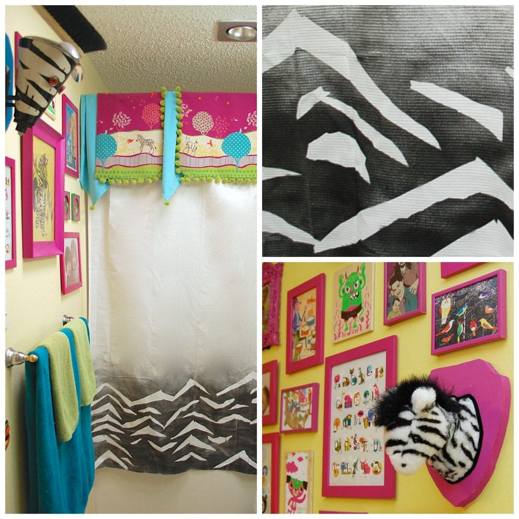 diy-zebra-print-shower-curtain