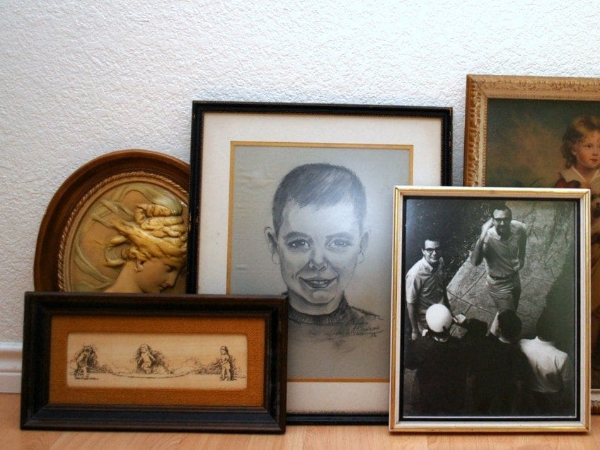 How to create a Halloween gallery wall with thrift store art.