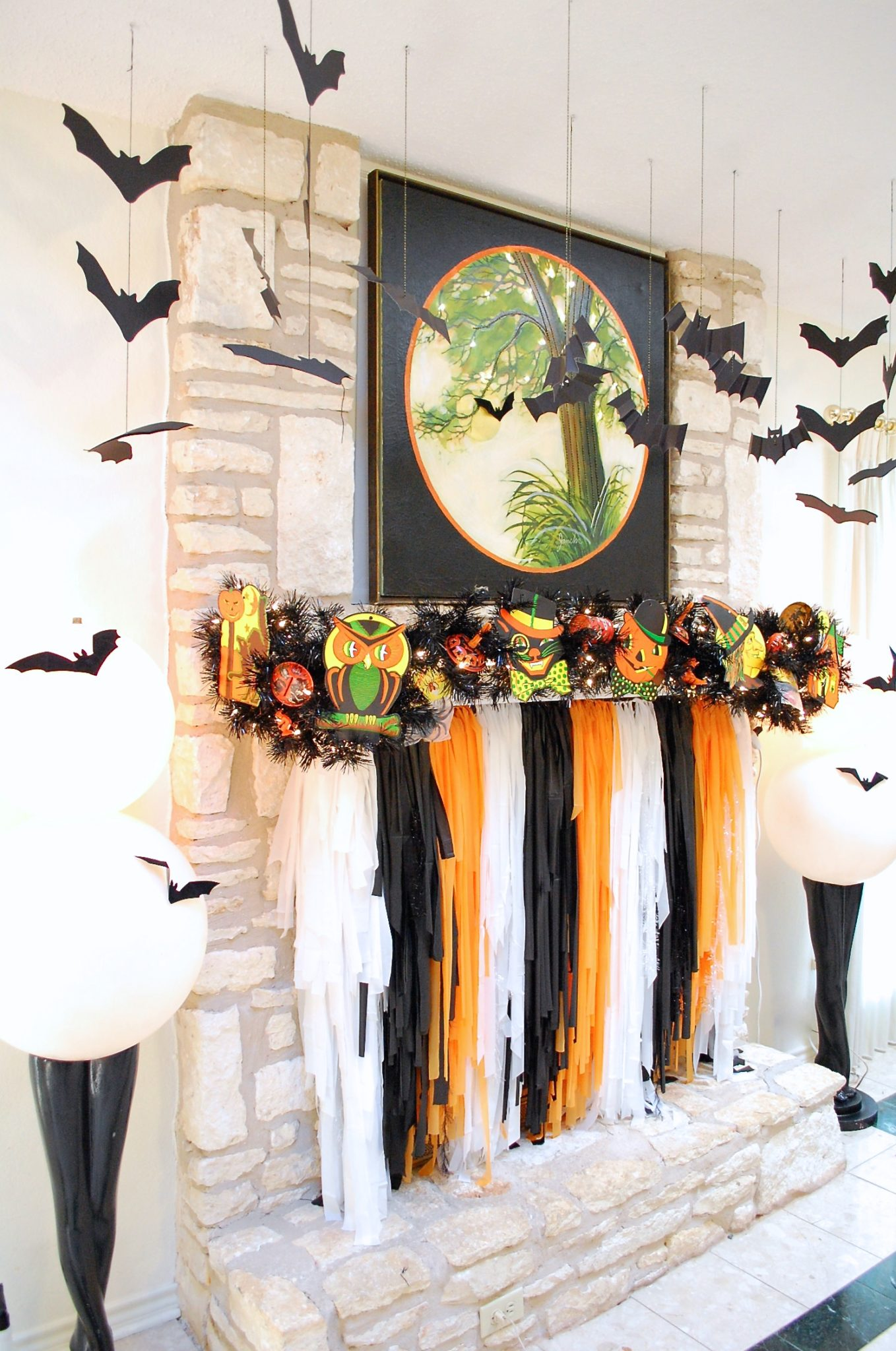 Jennifer Perkins Halloween Mantle