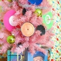 How to decorate a Christmas tree with a music theme.