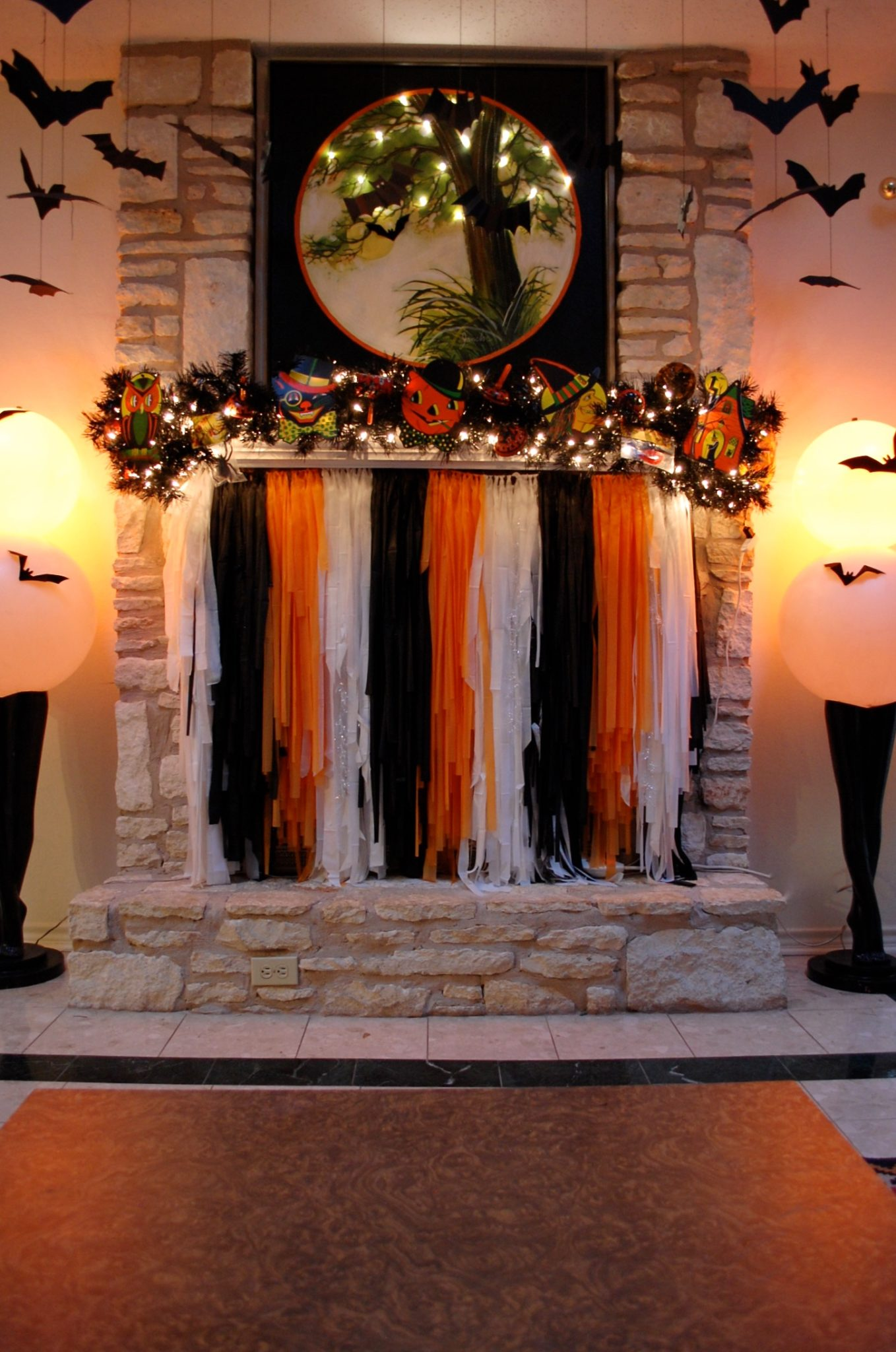 How to light up your Halloween mantle