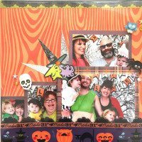 Halloween scrapbook page layout ideas.