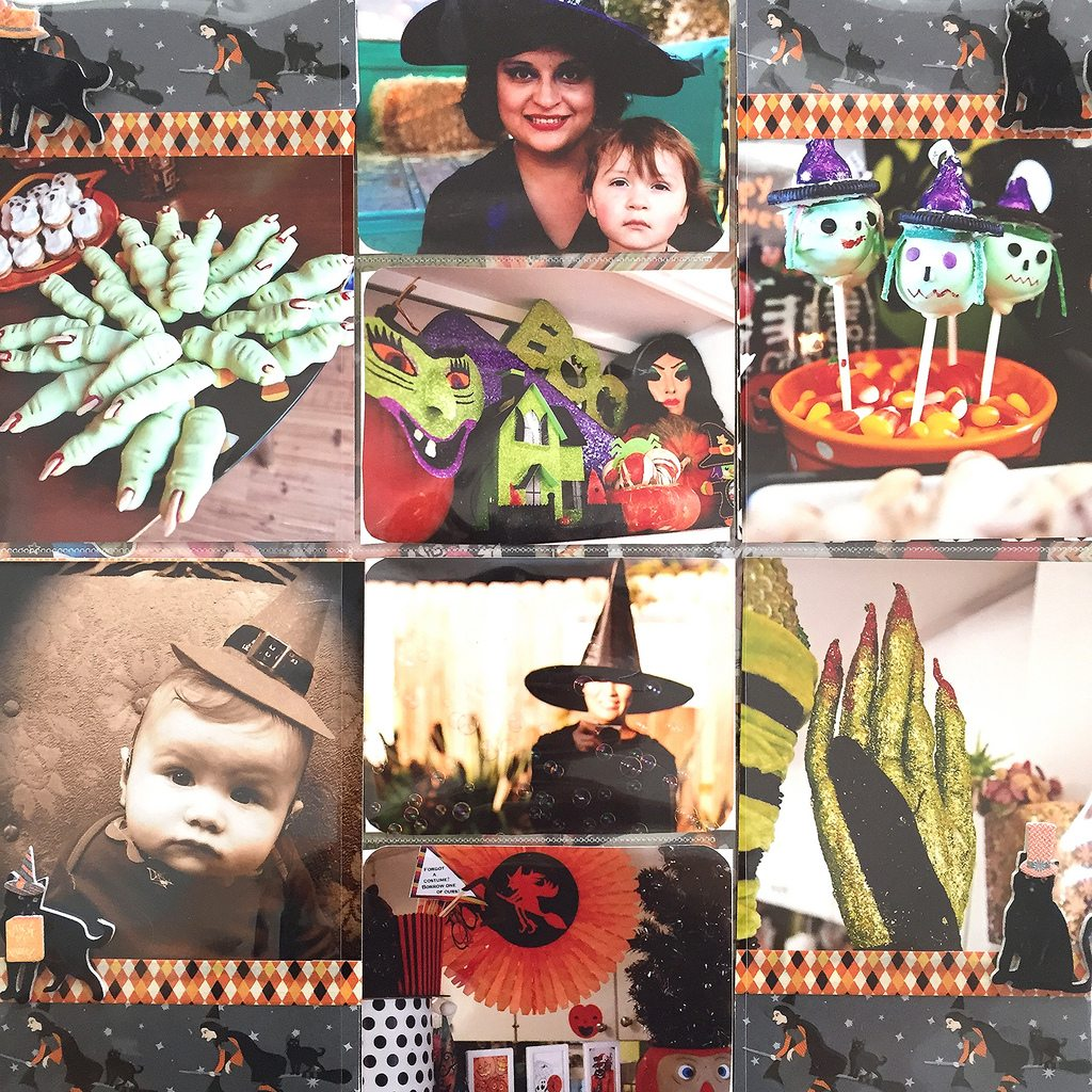 Ideas for Halloween scrapbook pages.