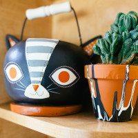 DIY planters for Halloween.