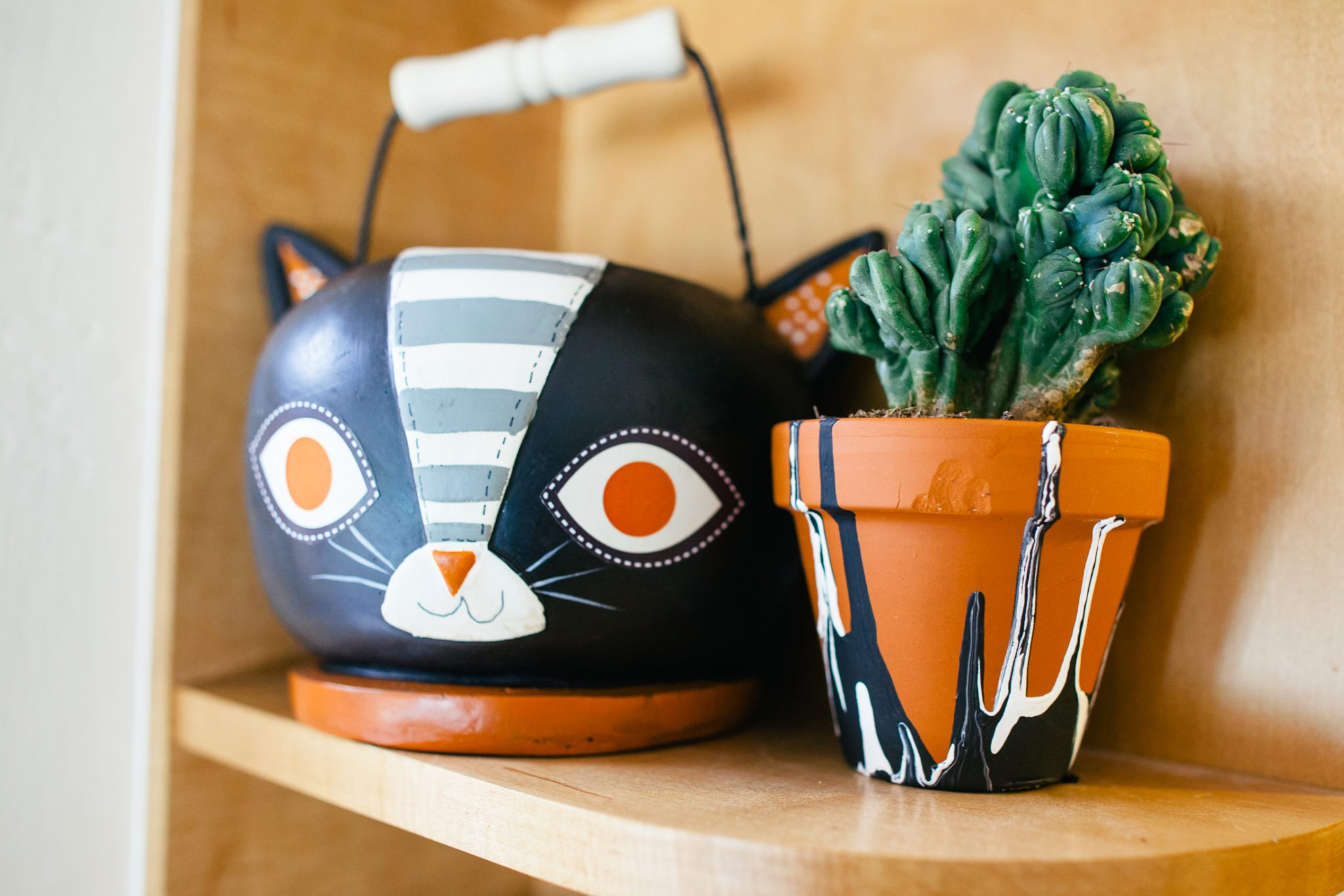 DIY planters for Halloween.