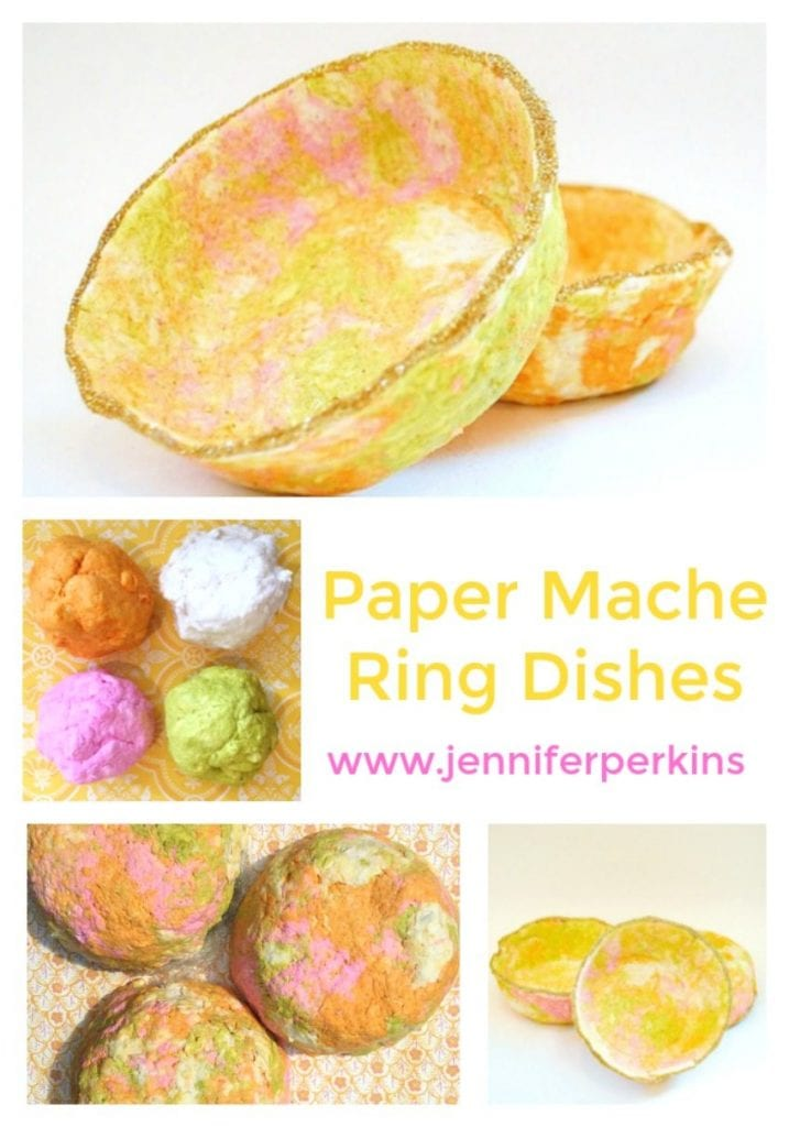 How to make paper mache ring dishes.
