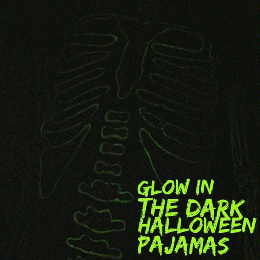 How to make glow in the dark pajamas for Halloween.