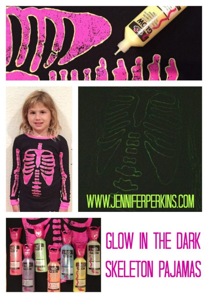 DIY Glow in the Dark Pajamas for Halloween by Jennifer Perkins