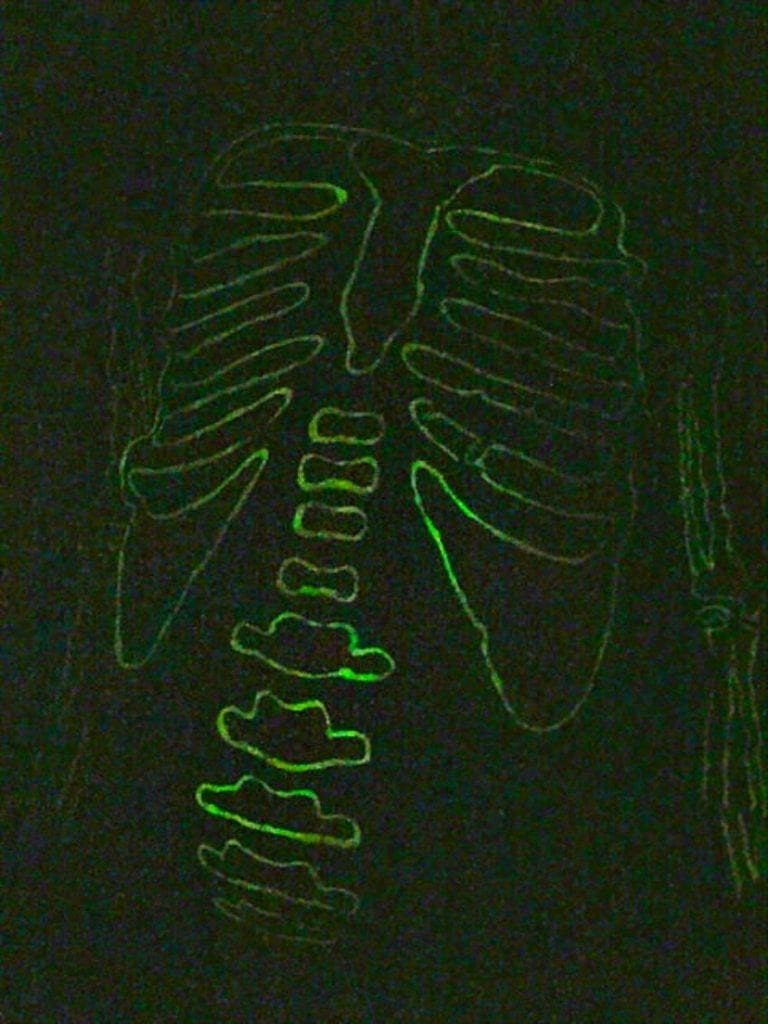 DIY Glow in the Dark Skeleton Pajamas for Halloween by Jennifer Perkins