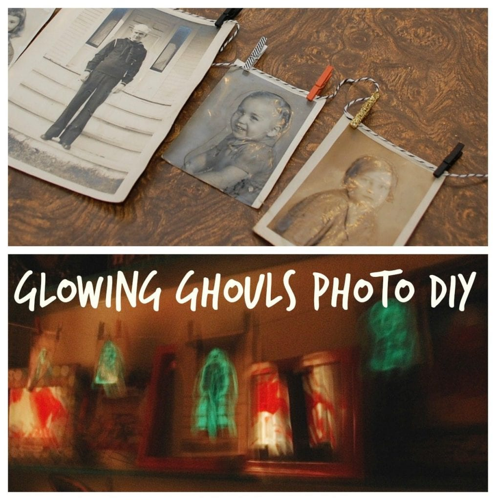 How to make glowing ghouls photographs for Halloween by Jennifer Perkins