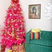 Coordinating your wrapping paper with your pink Christmas tree.