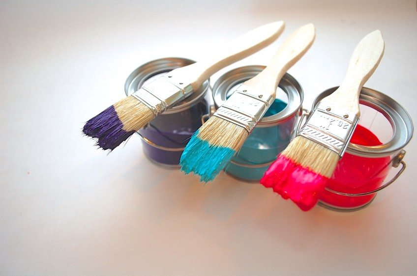 How to make paint can ornaments.