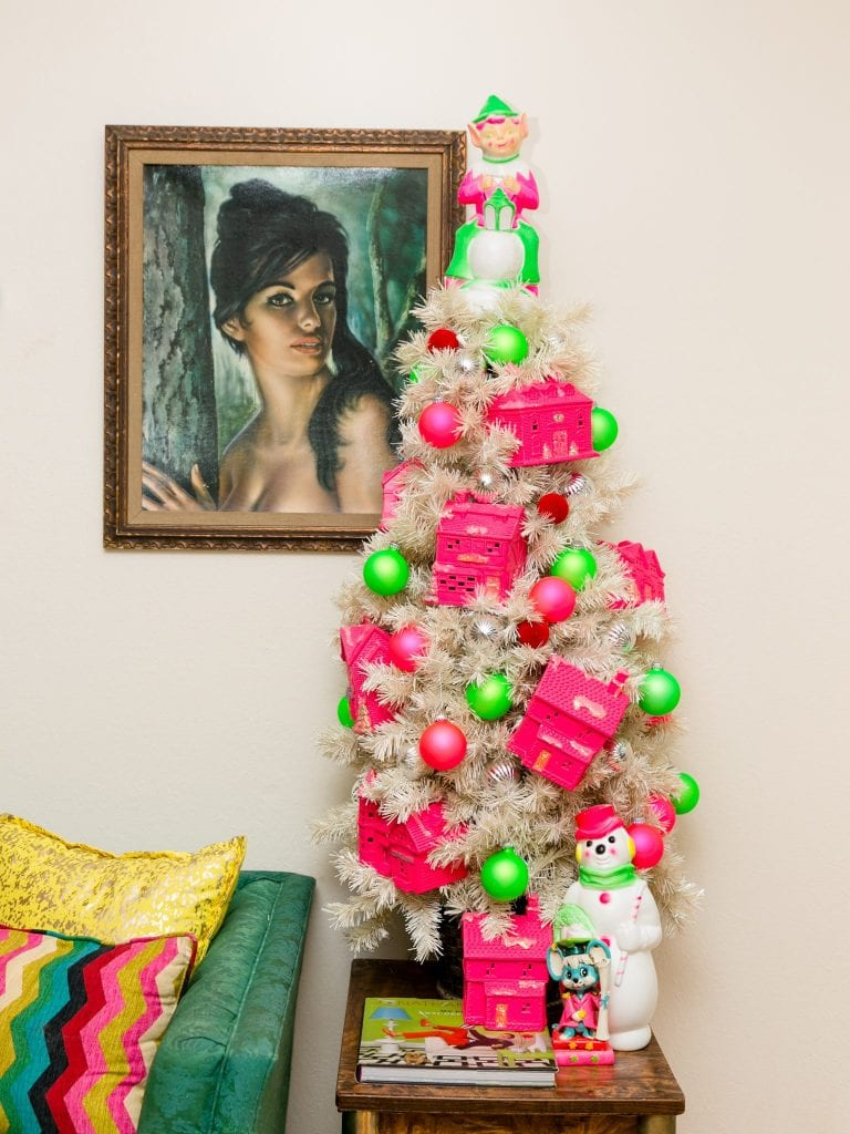 Decorating your Christmas tree with neon colors.