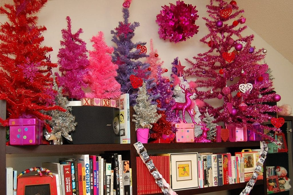 Pink valentine tree forest.
