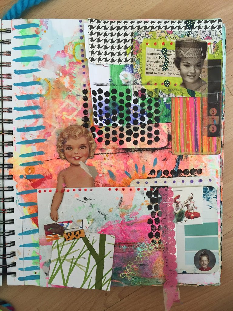 Combing art journals and junk journals.