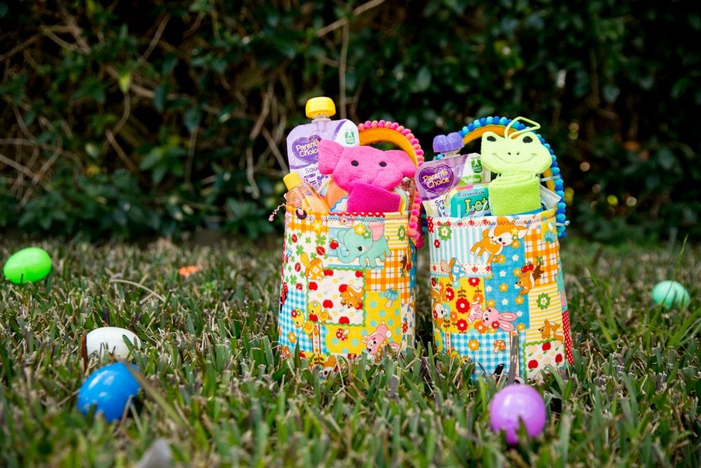 Ideas for baby themed Easter Baskets.