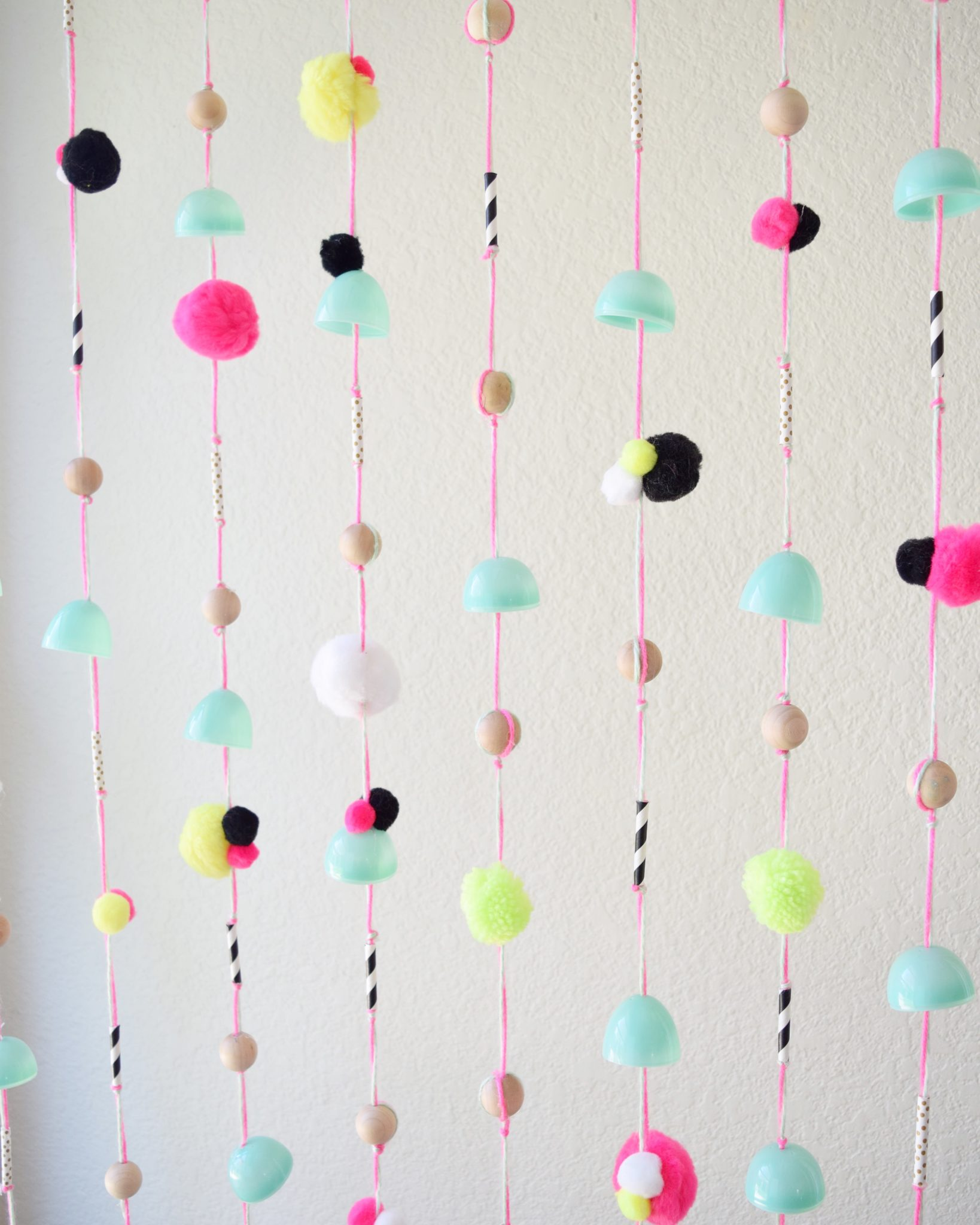 How to convert Easter eggs into a beaded curtain.