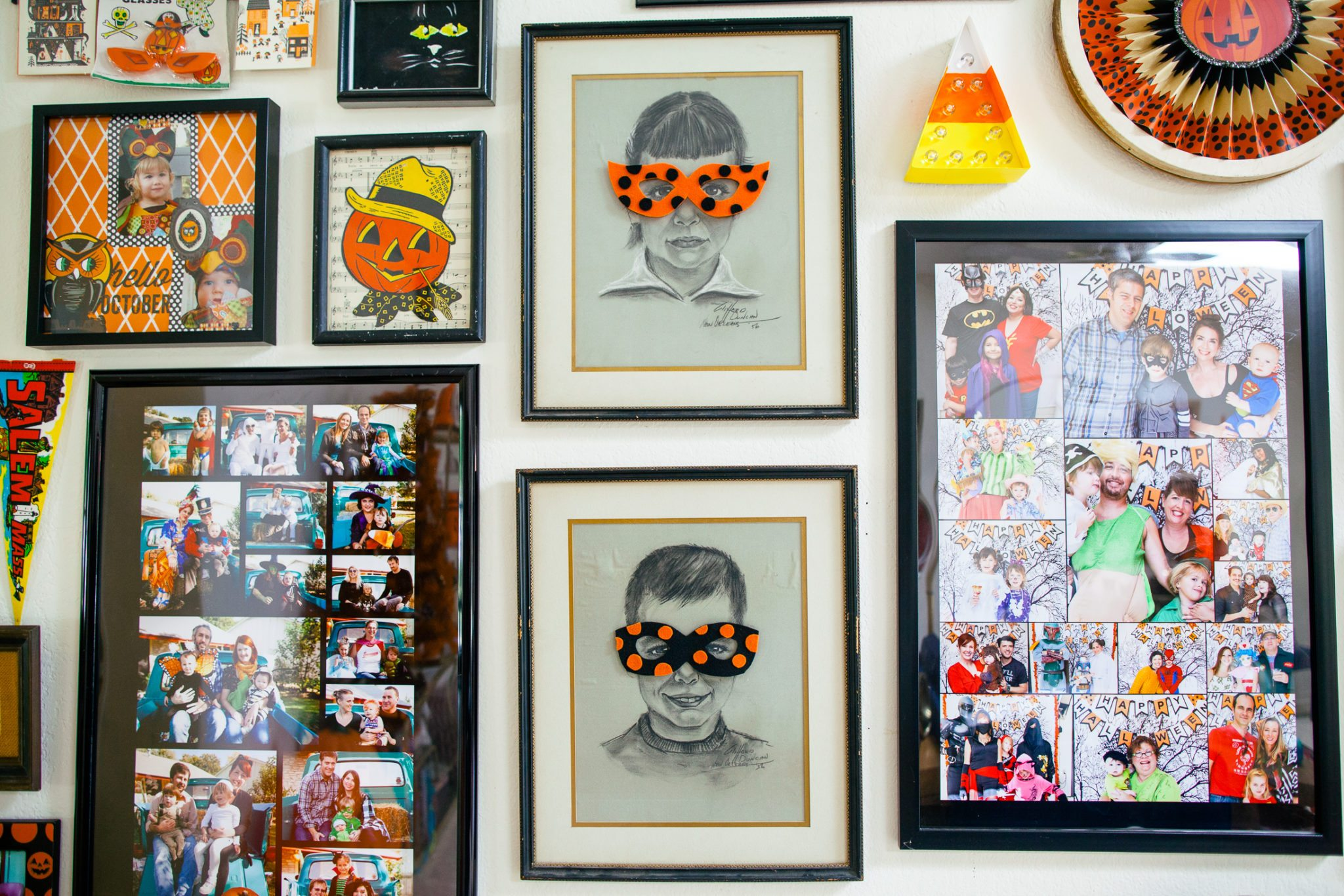 How to make a candy corn marquee light for a gallery wall.