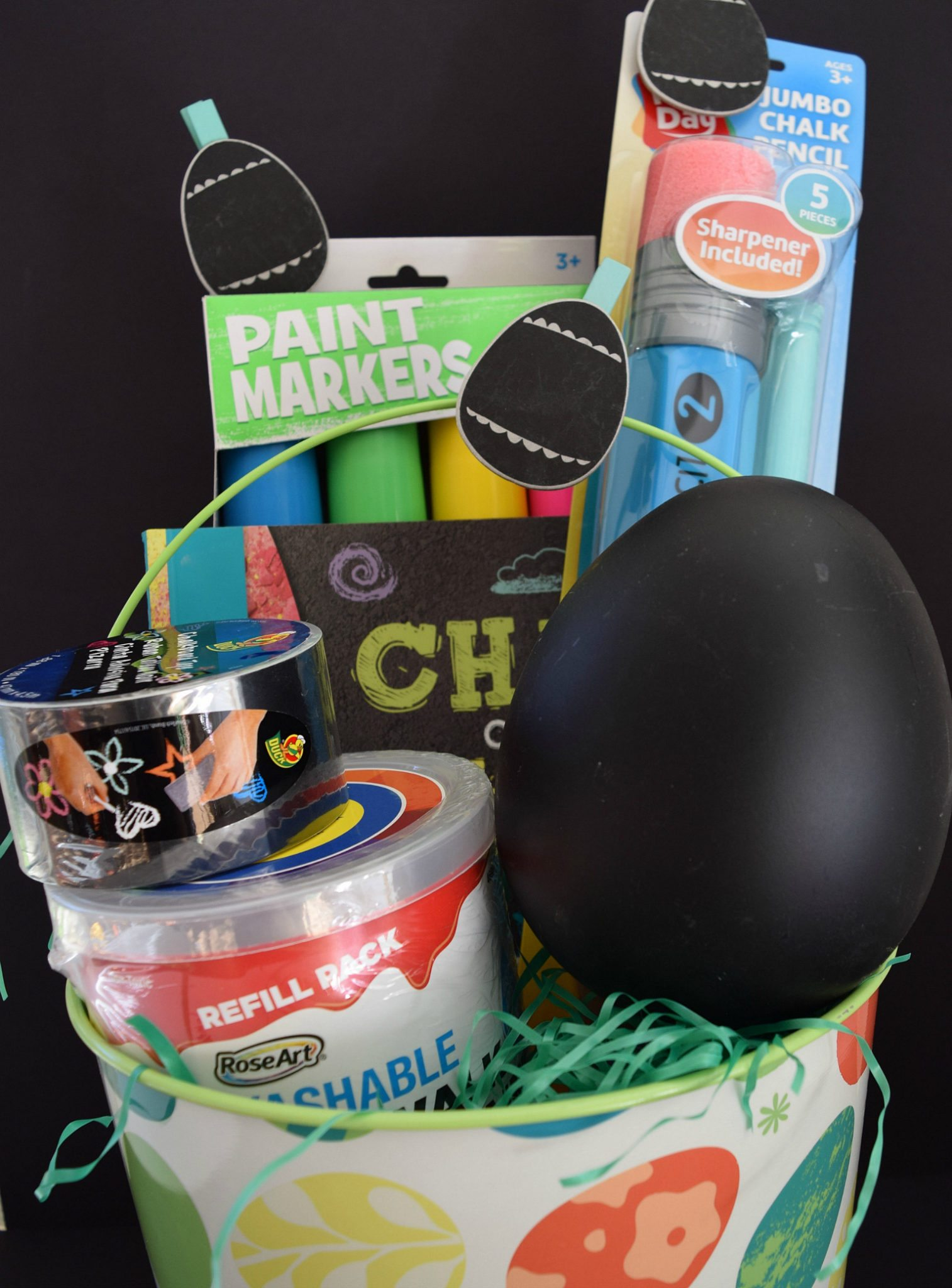 How to make a chalk themed Easter basket.