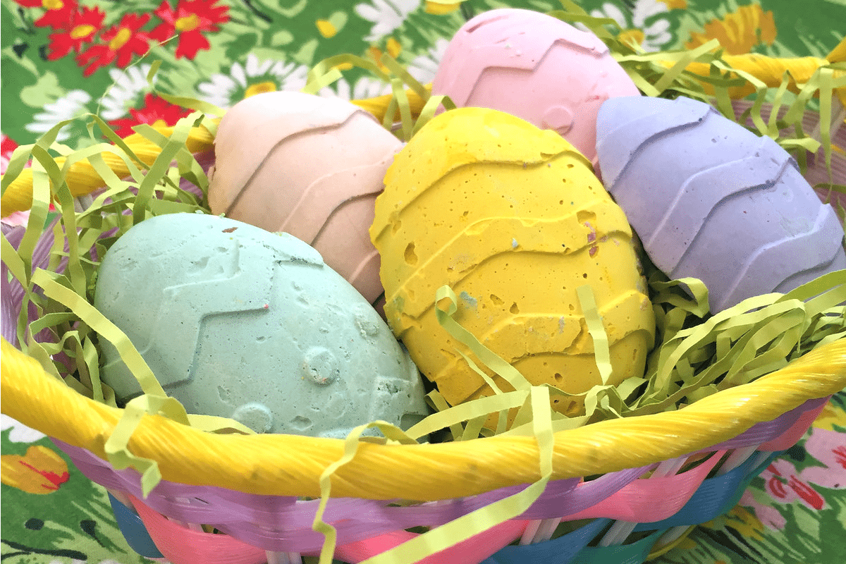 How to make egg shaped chalk for Easter.