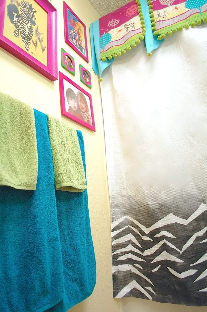 How to make a zebra print shower curtain.